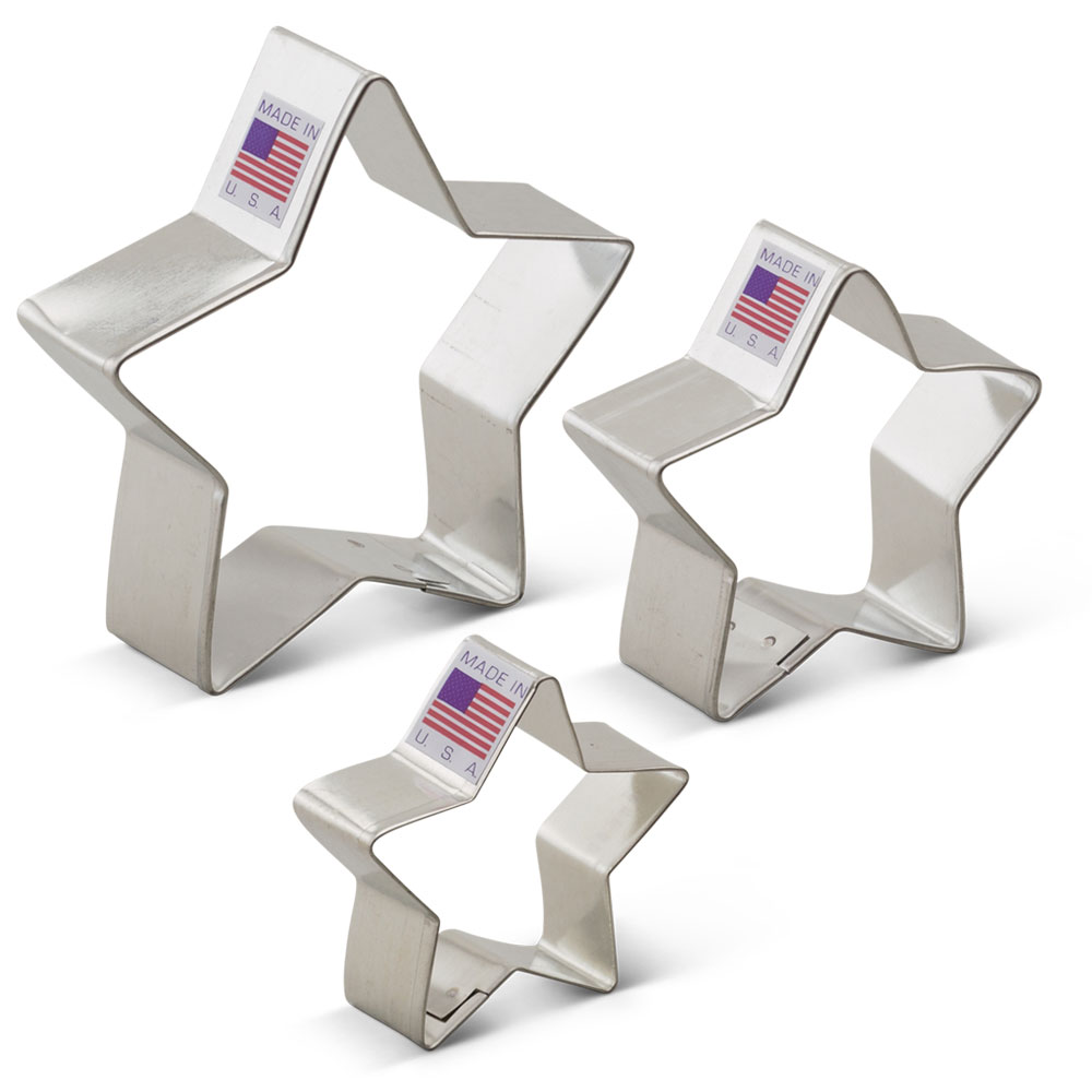 Star Cookie Cutter 3 pc set