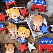 Hillary & Donald Cookies