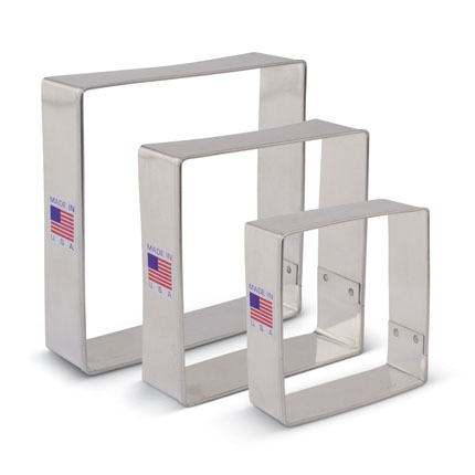 Square Cookie Cutter 3 pc set