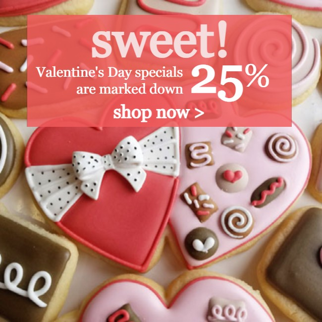 Valentine's Day Sale: select cookie cutters are marked down 25%