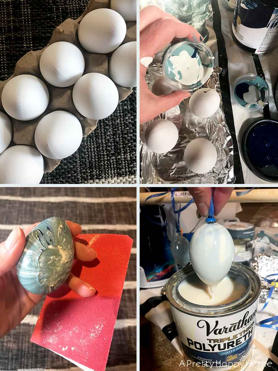 marbled faux easter eggs
