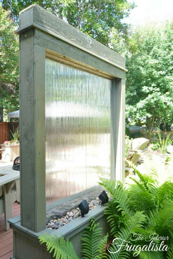 patio water wall by the interior frugalista