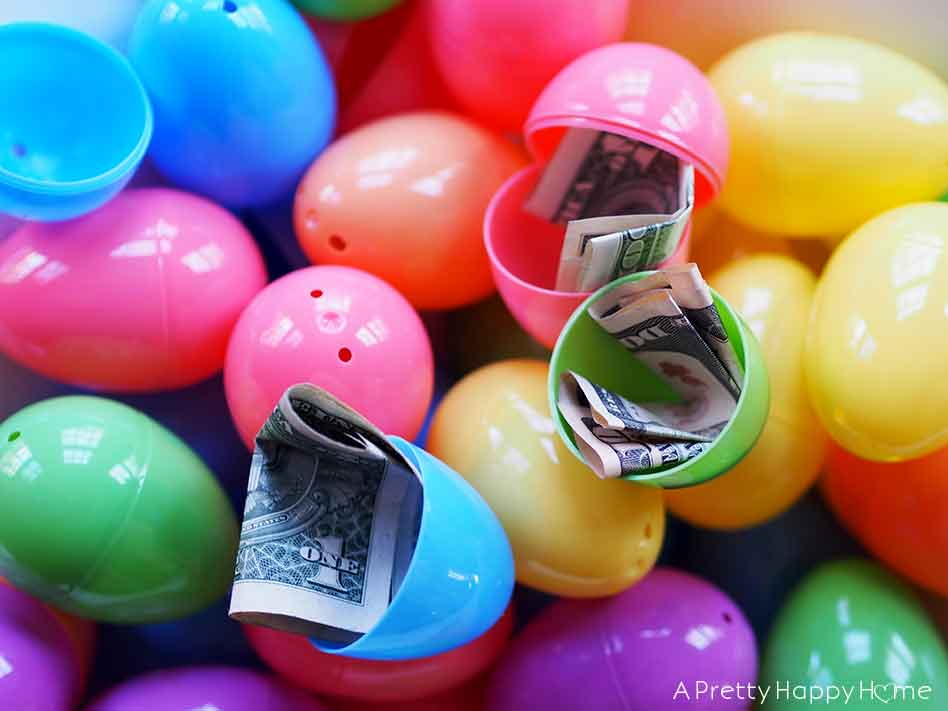 Easter Egg Hunt for Adults with money