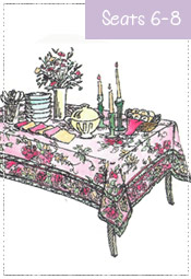 Dining Tablecloth 48x72 to 60x90