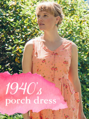 1940s Porch Dresses