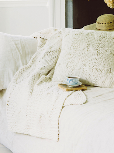 Comfy Cable Knit Throw