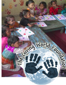 Students supported by the Giving World in a classroom