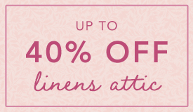 Shop up to 40% off linens