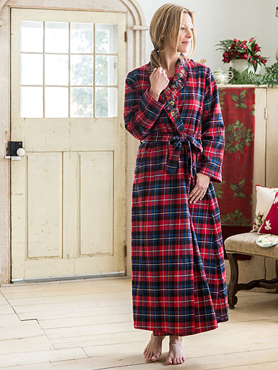 Penny Plaid Dressing Gown | Ladies Clothing, Nighties & Dressing ...