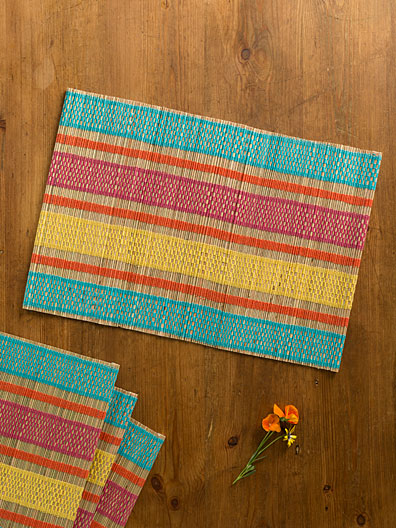 Straw Mat Placemat S/4 | Linens U0026 Kitchen, Placemats U0026 Runners :Beautiful  Designs By April Cornell
