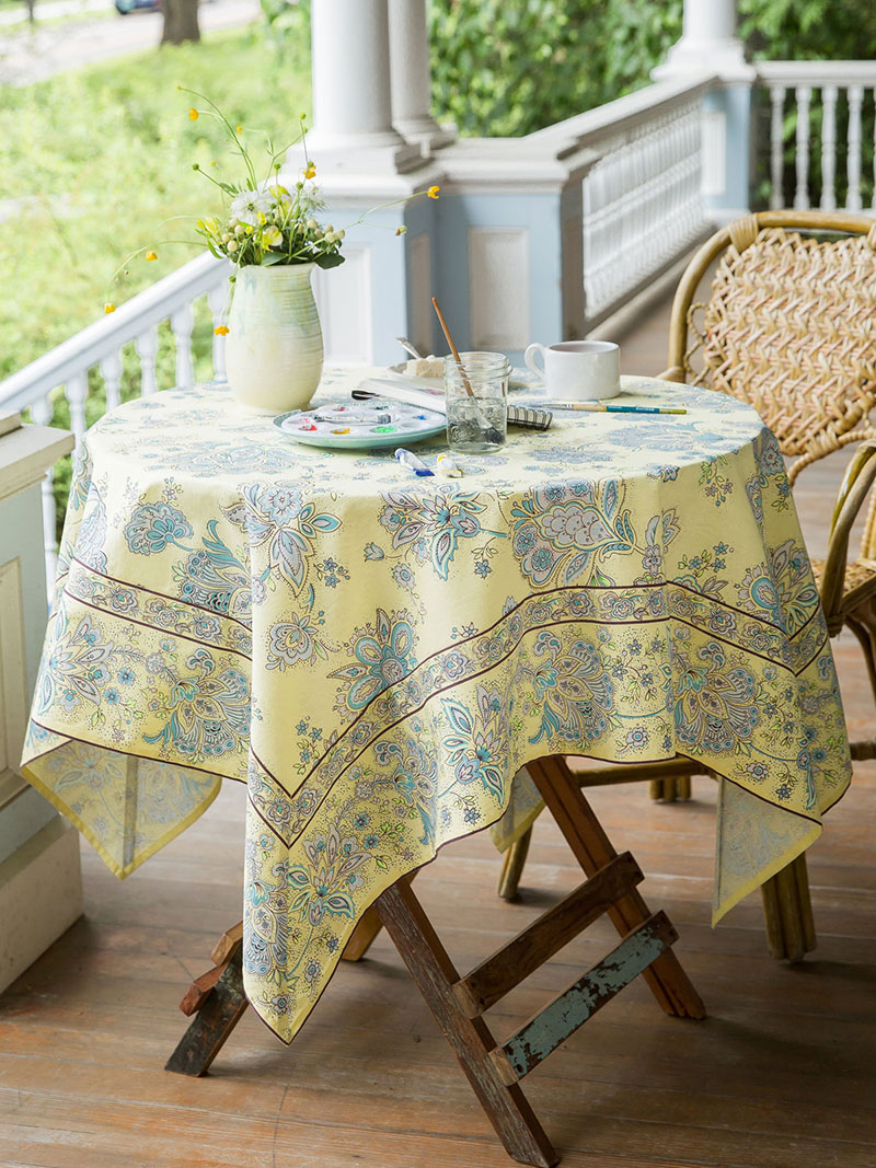Playful Paisley Tablecloth | Attic Sale, Linens U0026 Kitchen Attic :Beautiful  Designs By April Cornell
