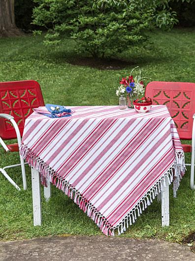 Mingle Stripe Tablecloth | Attic Sale, Linens U0026 Kitchen Attic :Beautiful  Designs By April Cornell