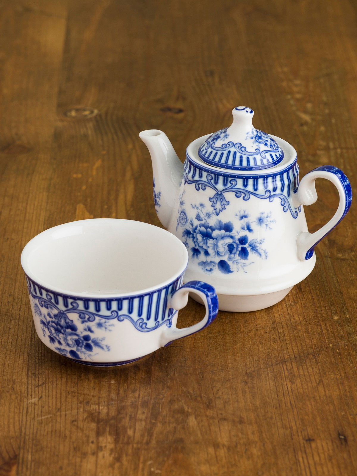 Blue Flower Teapot & Blue Flower Teapot | Giftware :Beautiful Designs by April Cornell