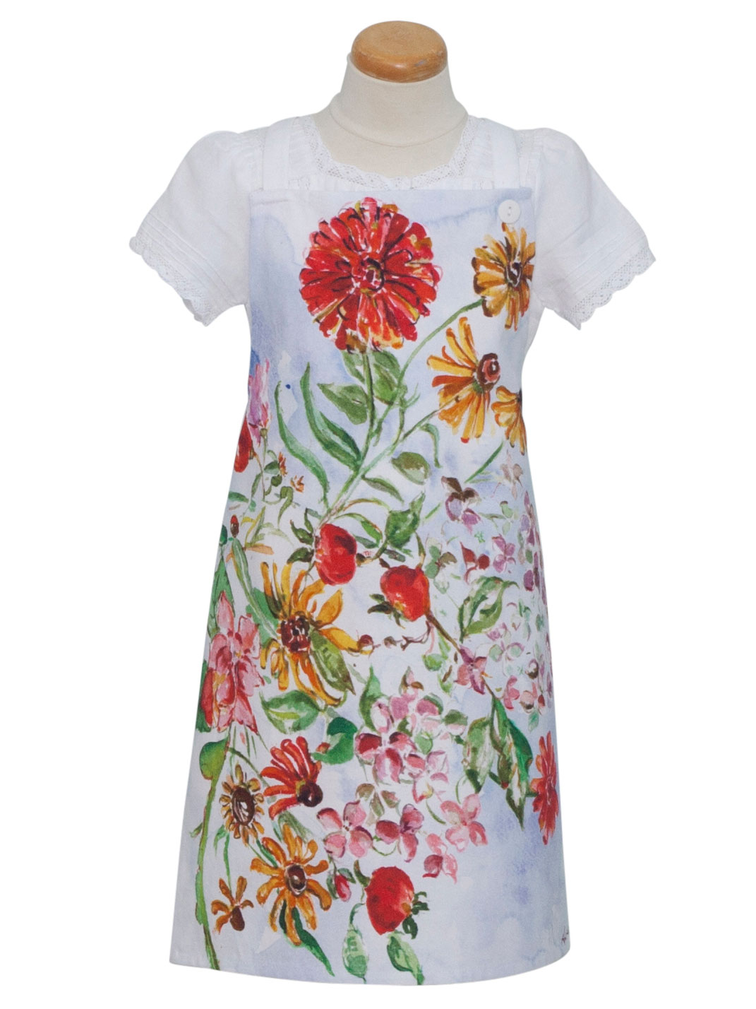 Zinnia Bouquet Kids Apron | Linens & Kitchen, Aprons, Ovenmitts ...