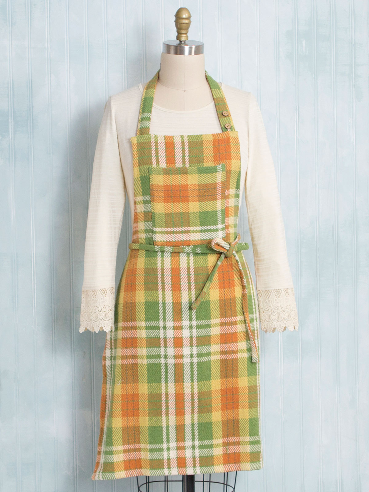 September Plaid Apron
