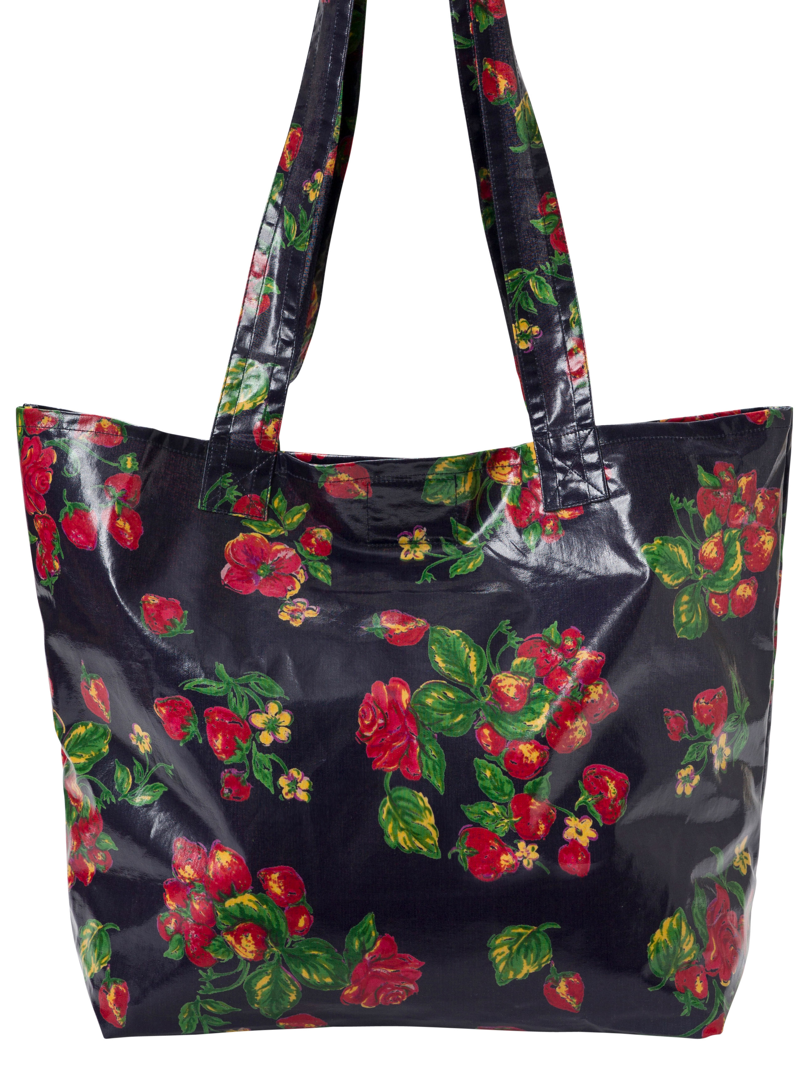 Strawberry Oil Cloth Market Bag Accessories Bags