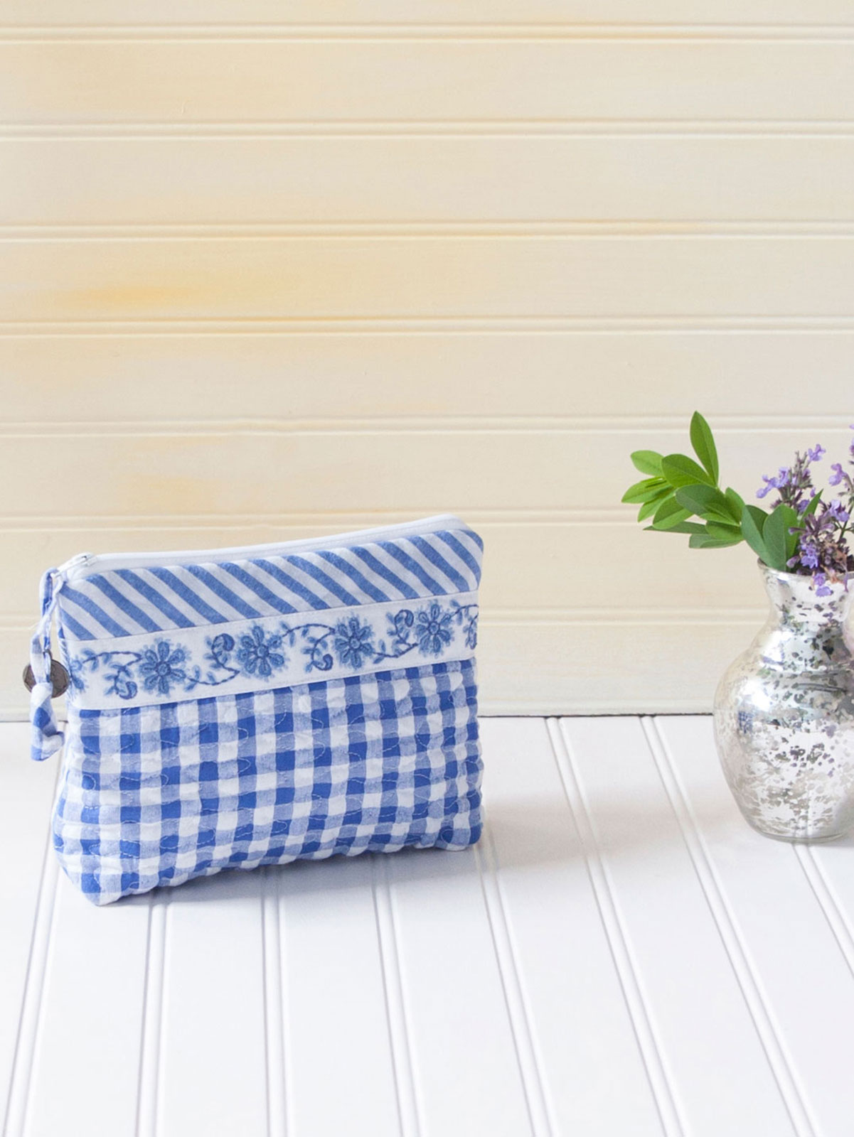 Picnic Patchwork Small Cosmetic Bag