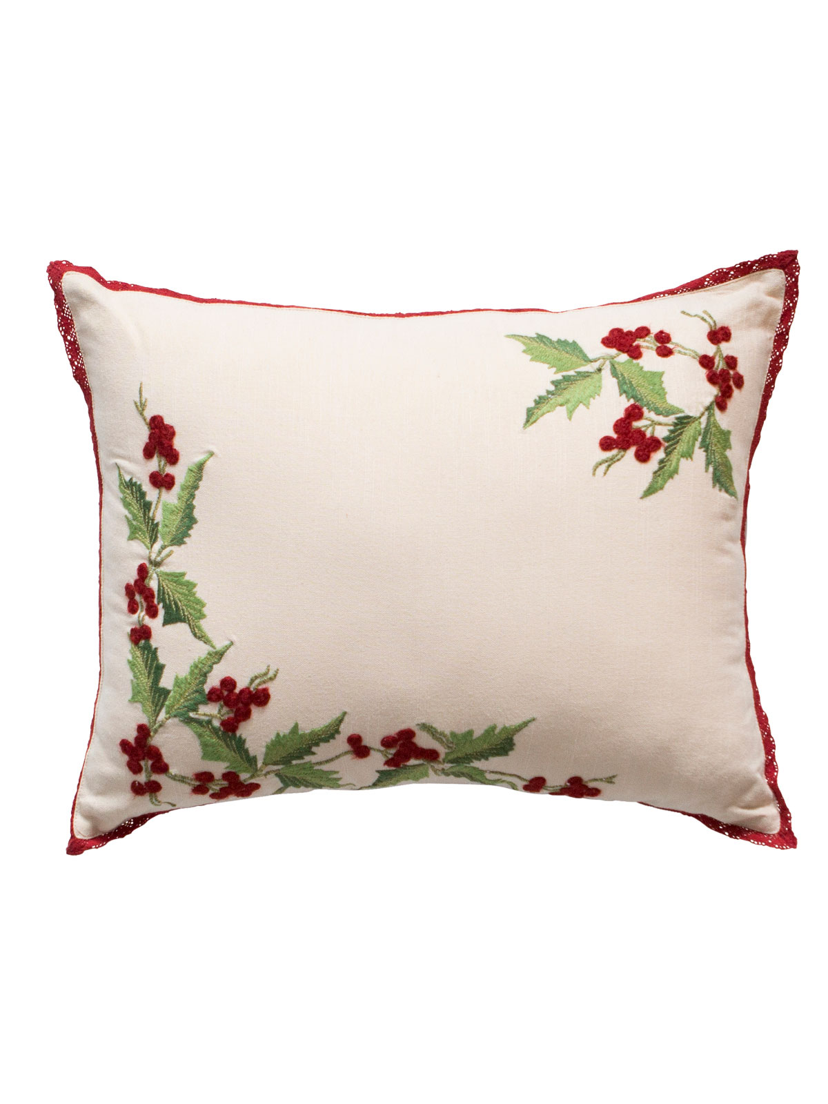 Hazel S Holly Embroidered Cushion Your Home Cushions