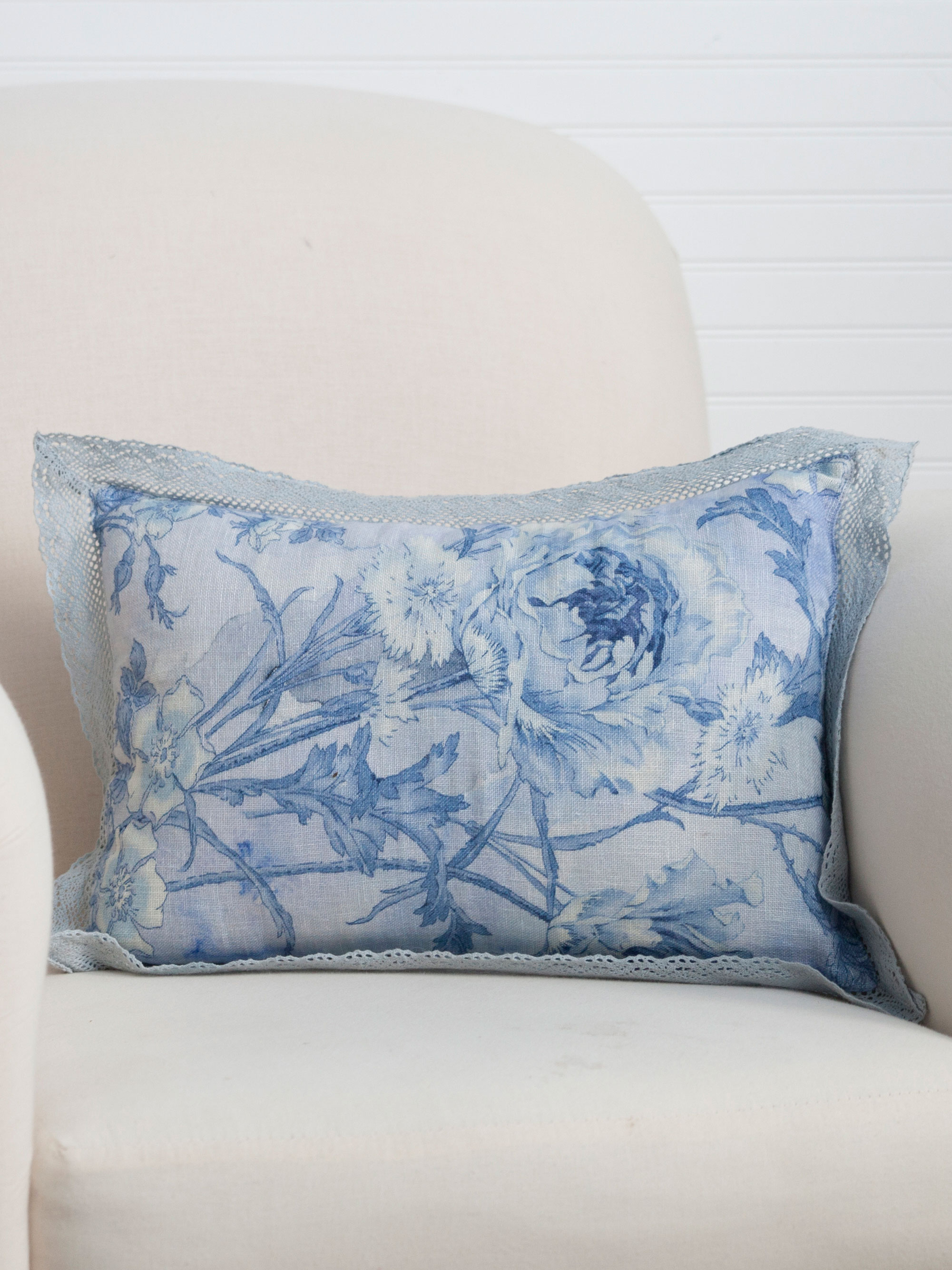 Rose Nouveau Linen Cushion