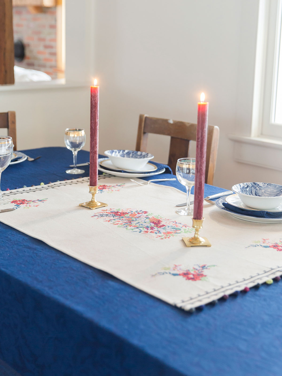 Trousseau Embroidered Centerpiece