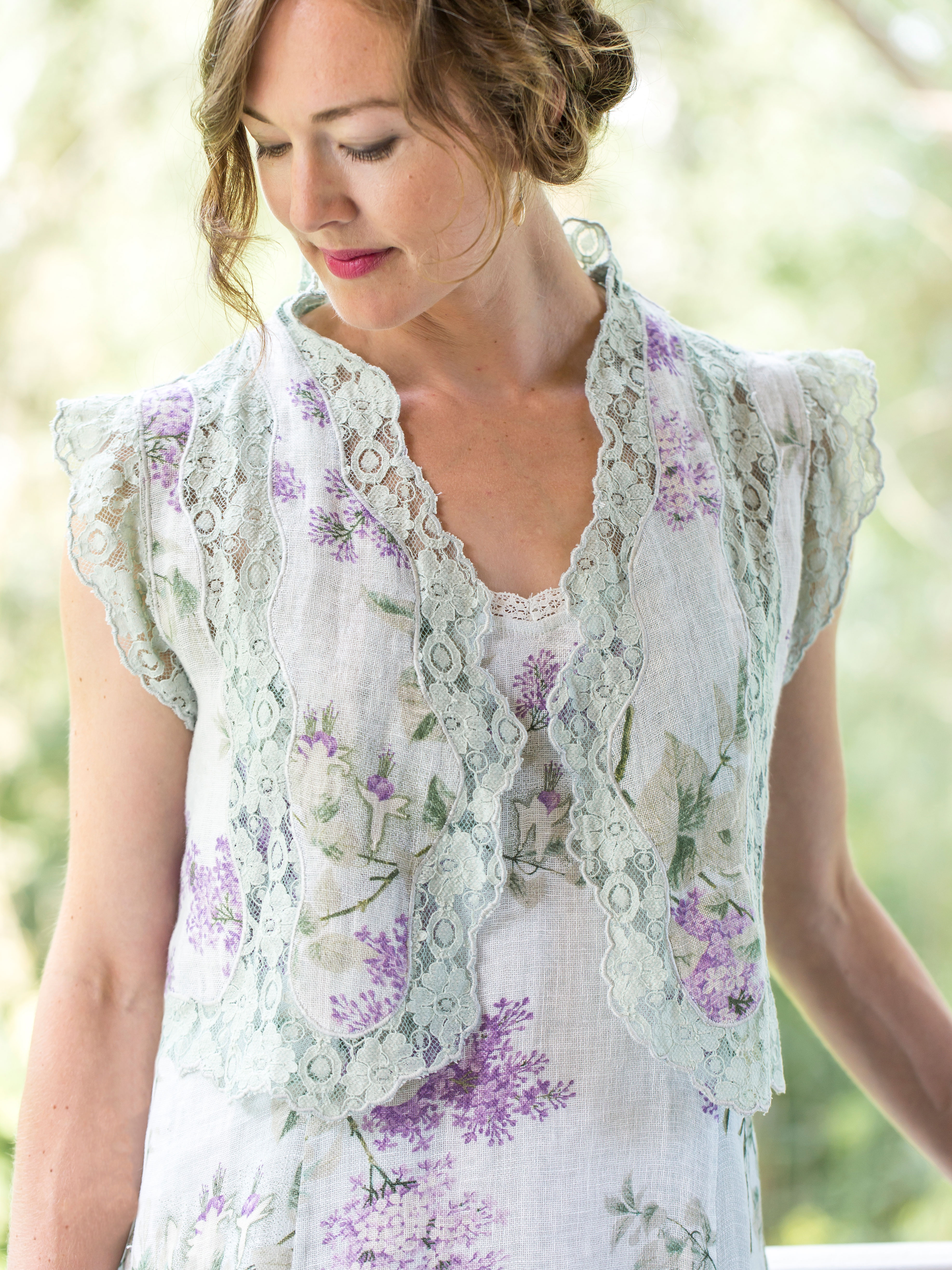 Lilac Linen Coverup