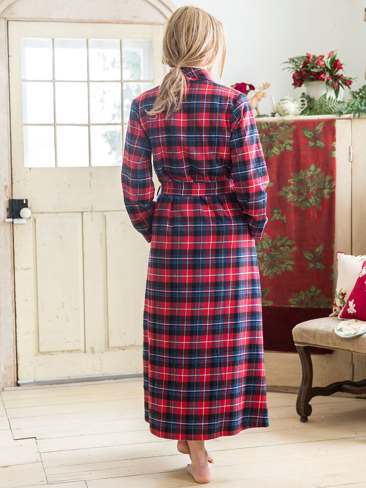 Penny Plaid Dressing Gown  3f07bf9131
