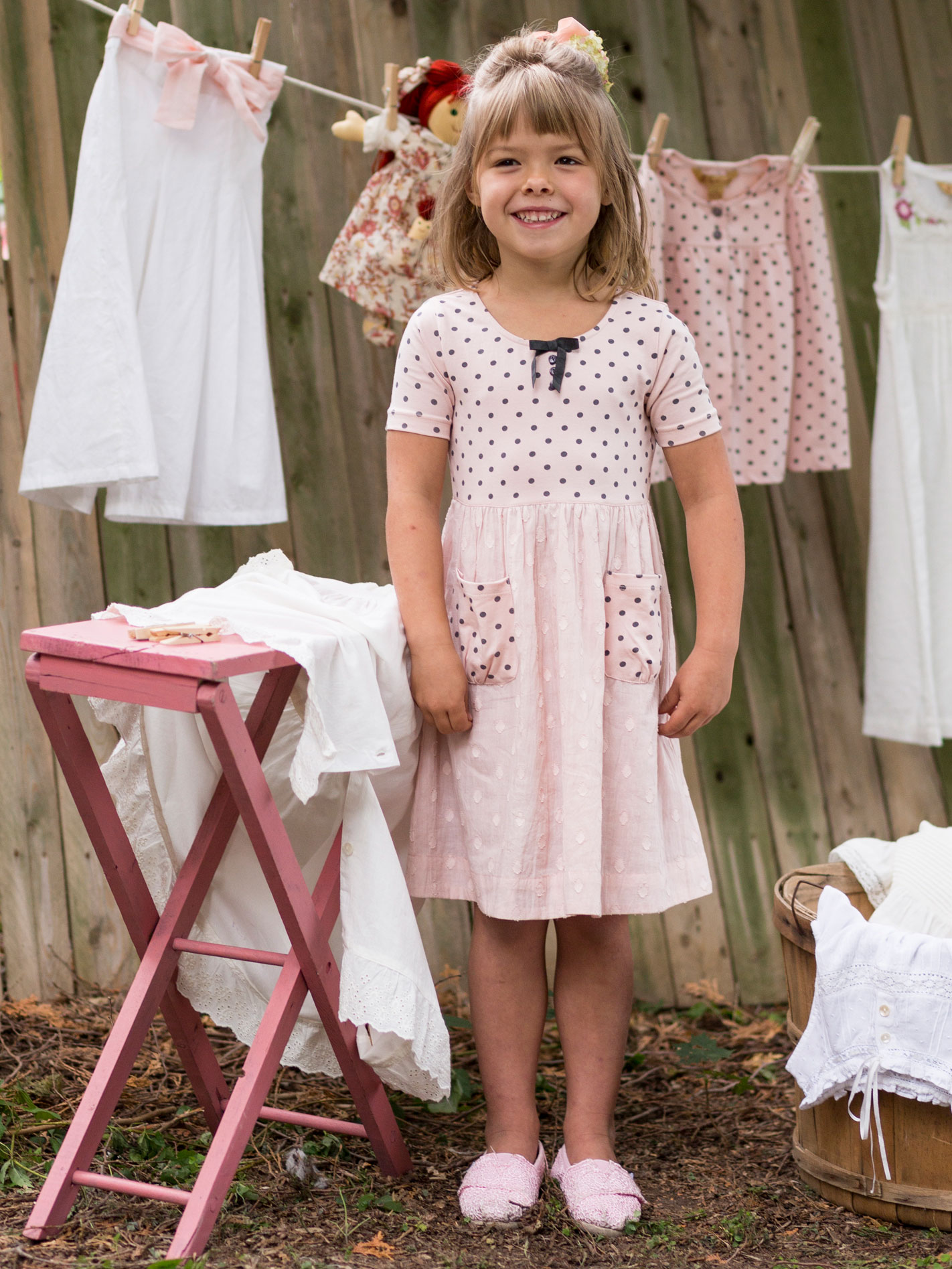 Dotty Girls Dress