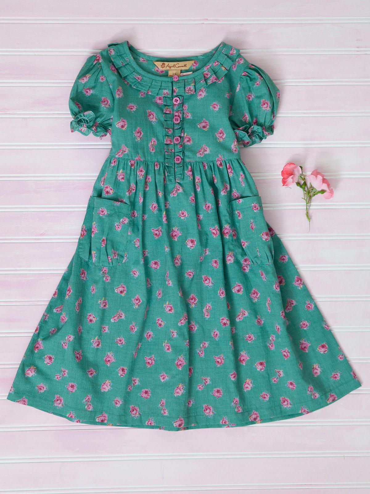 Basket Rose Girls Dress