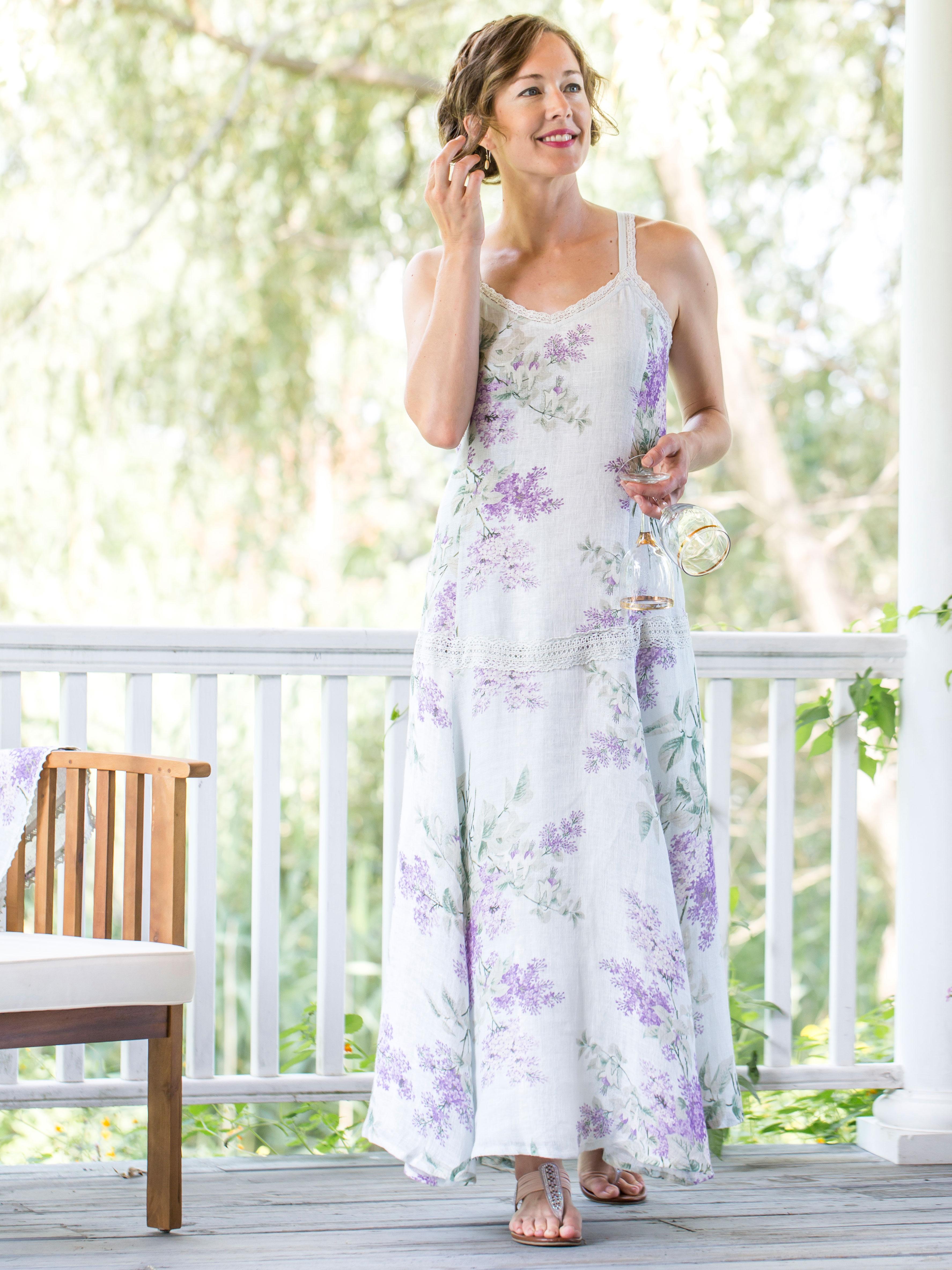Lilac Linen Dress | Attic Sale, Ladies Attic :Beautiful Designs by ...