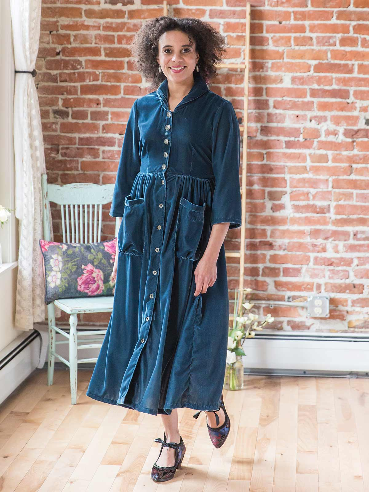 Chinoiserie Velvet Dress
