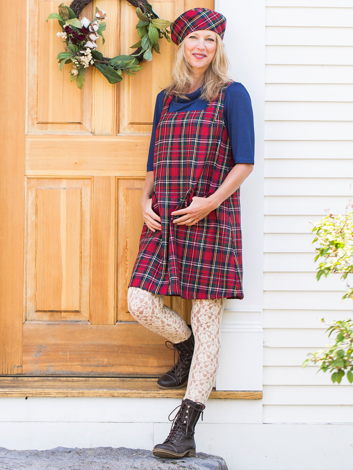 Winter Plaid Shift Dress