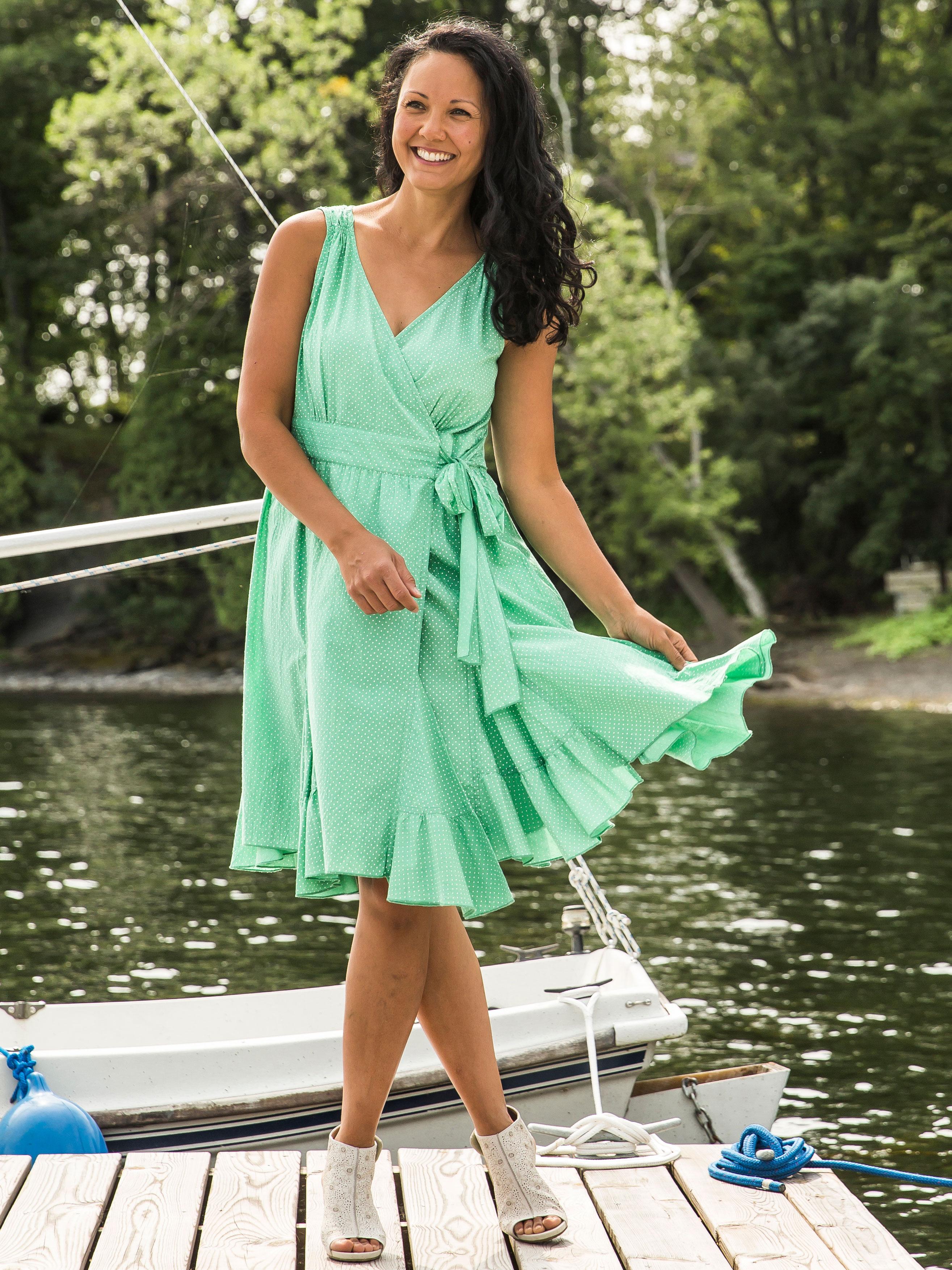 Jade Dot Dress