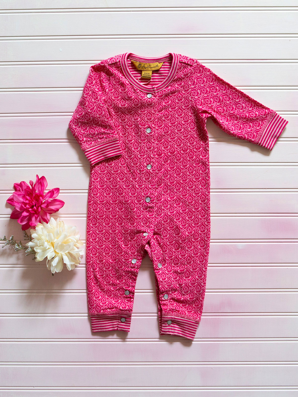 Candy Stripe Girls Onesie
