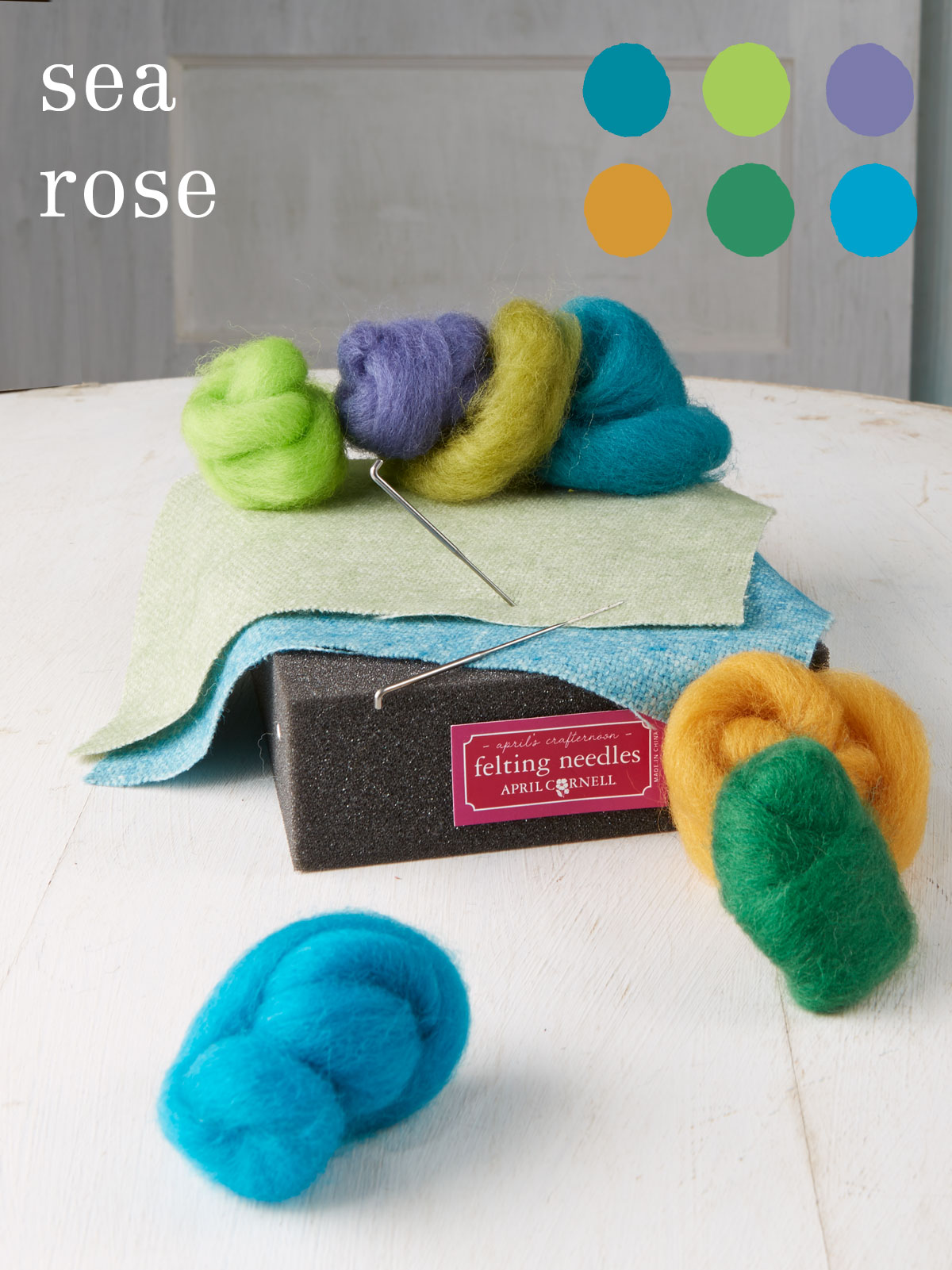Sea Rose Medium Felting Kit