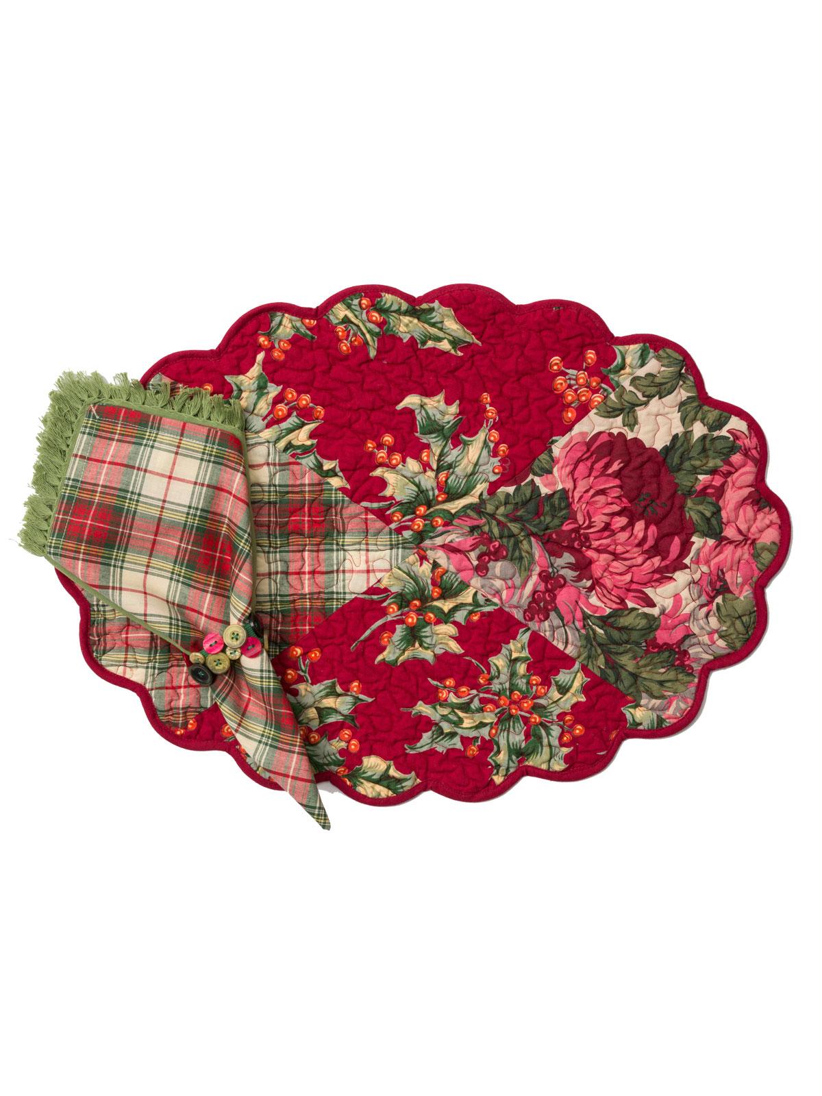 Christmas Patchwork Tablecloth Attic Sale Linens