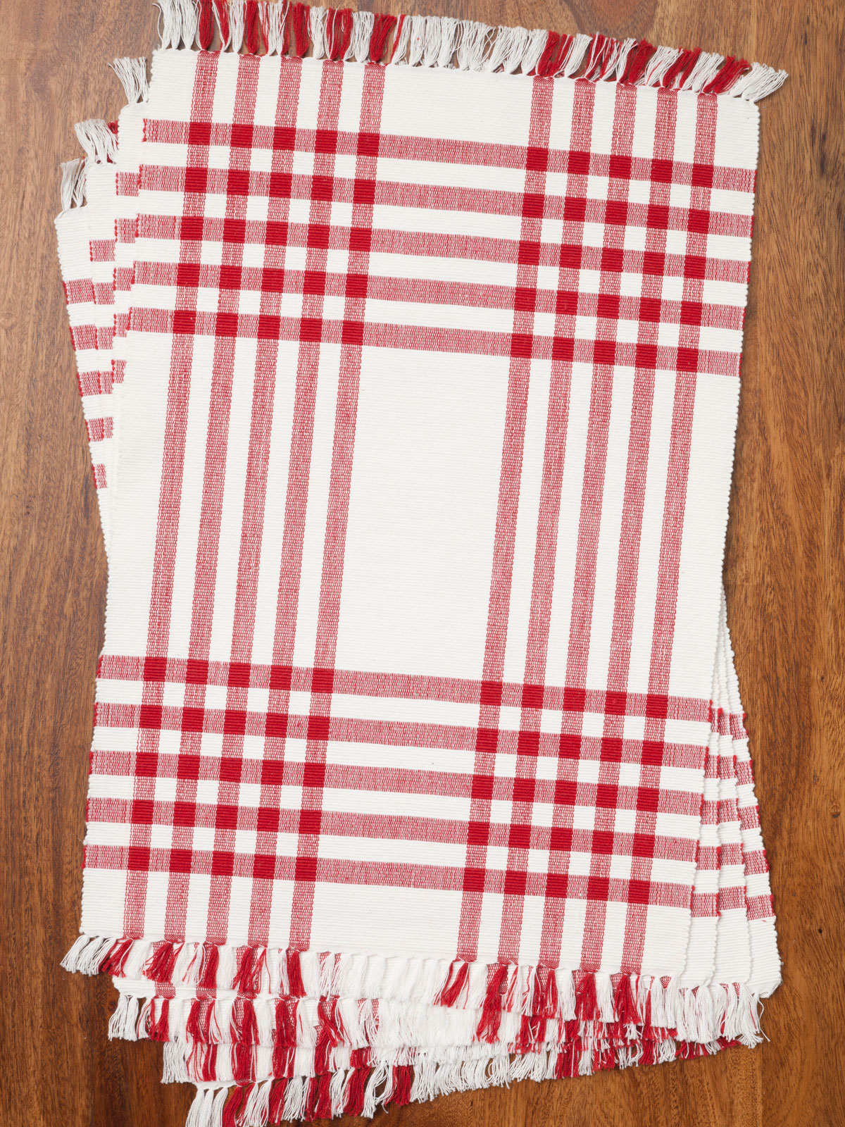Happy Picnic Gingham Rib Placemat Set 4 Red April S