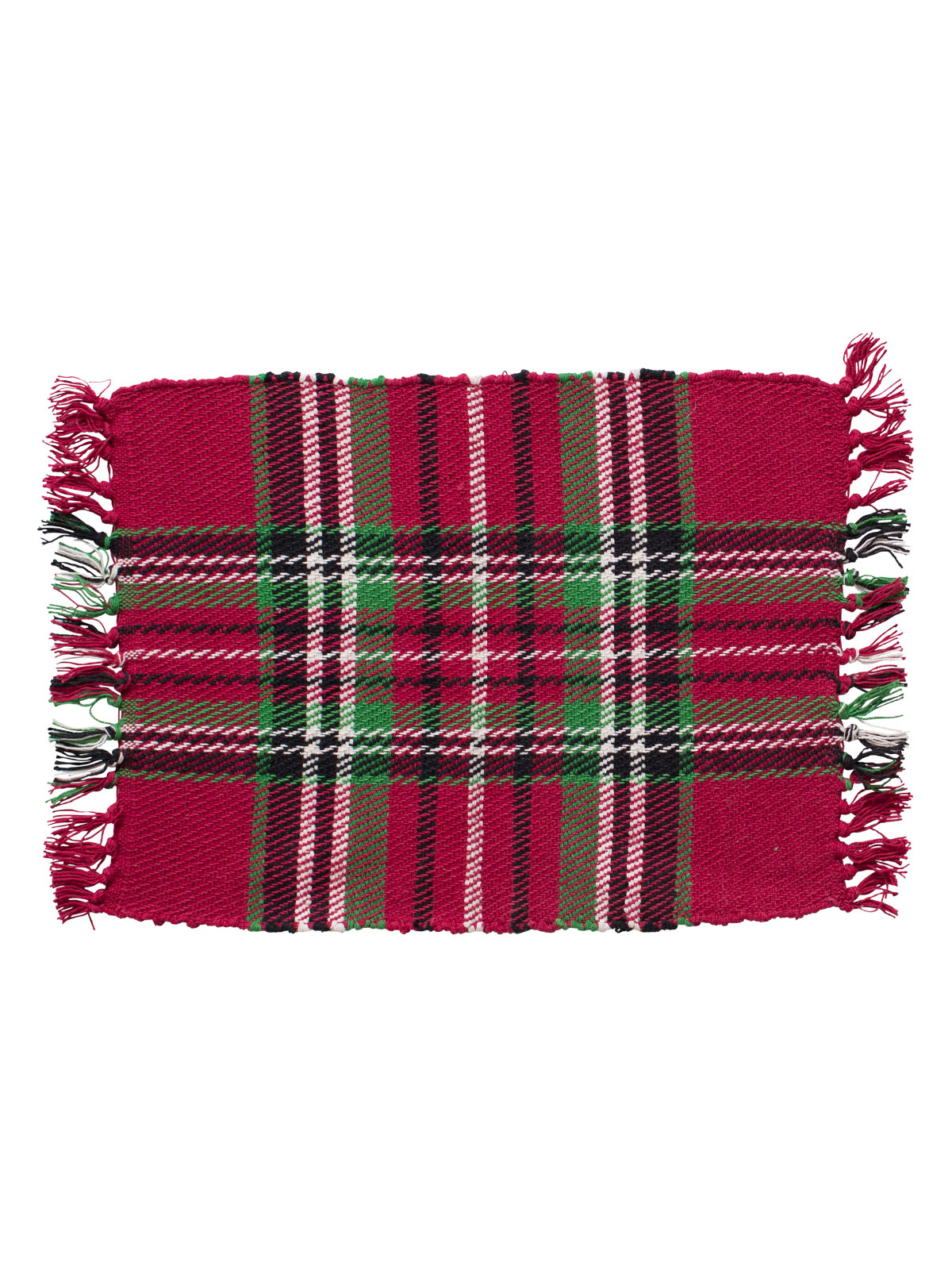 Merry Tartan Plaid Rib Placemat Set of 4