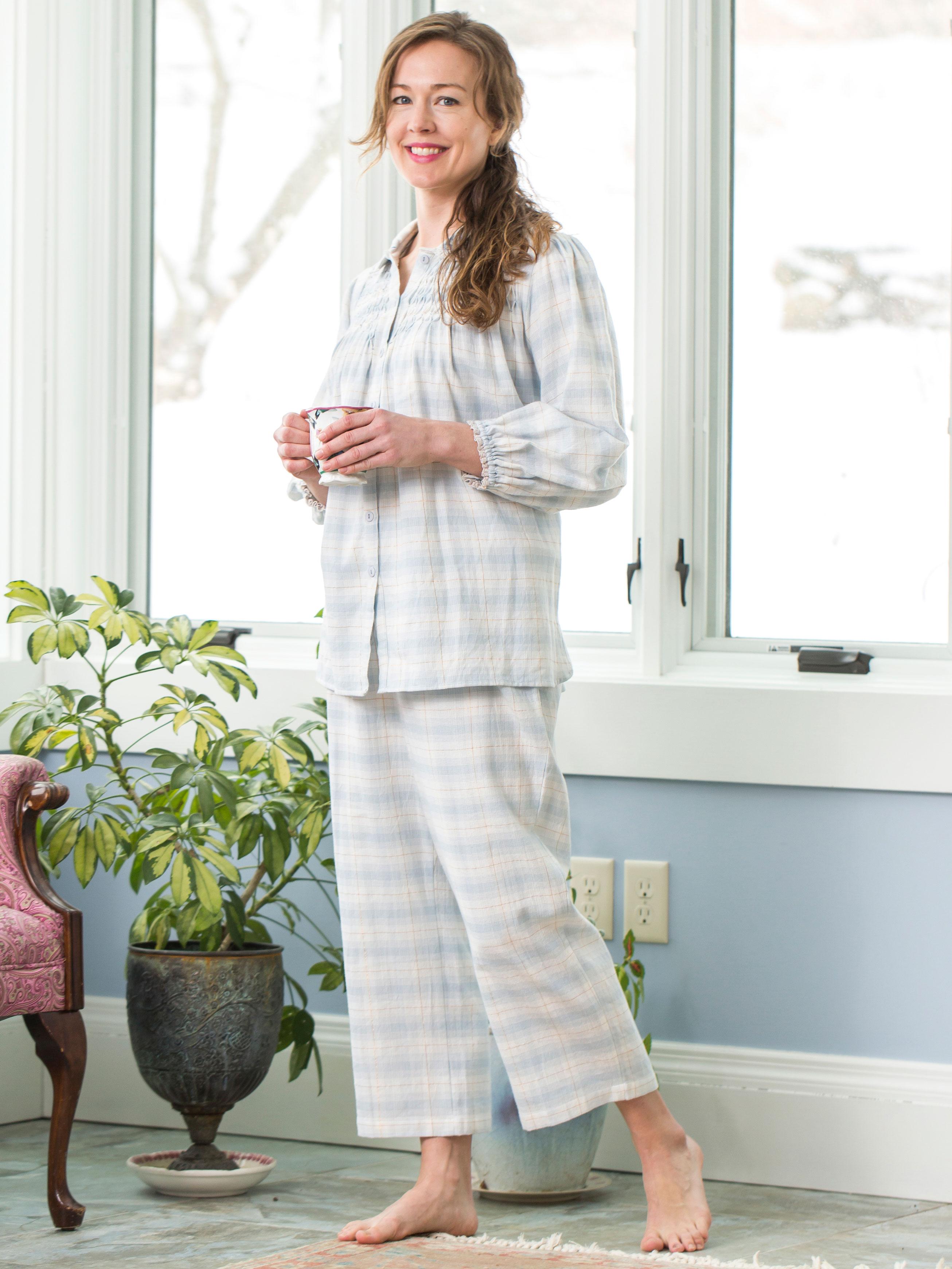 letts cuello cotton blue comfortable villela pijama pajama twill pajamas mao neckline dream most t en comforter celeste delantero light