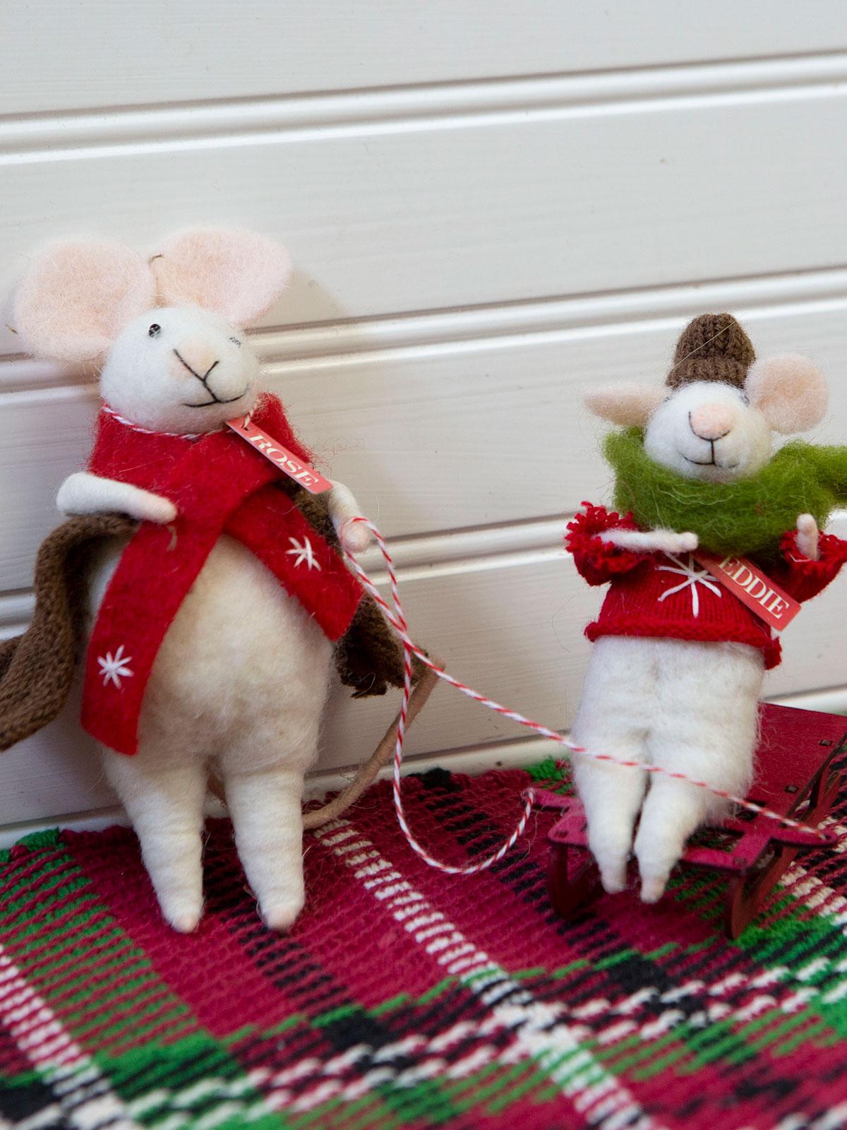 Rose & Baby Eddie Felted Mice