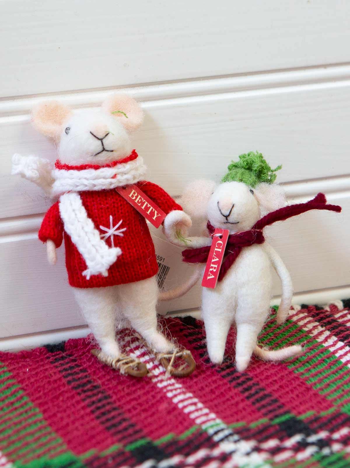 Betty & Clara Felted Mice