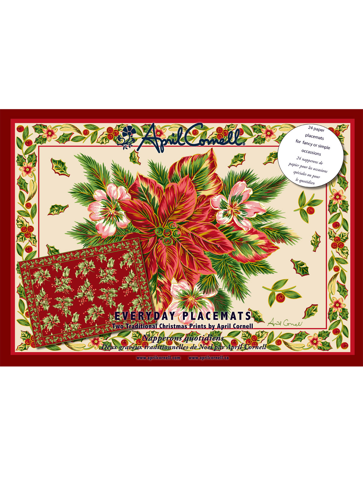 Christmas Traditional Paper Placemats Set/24 | Your Home ...