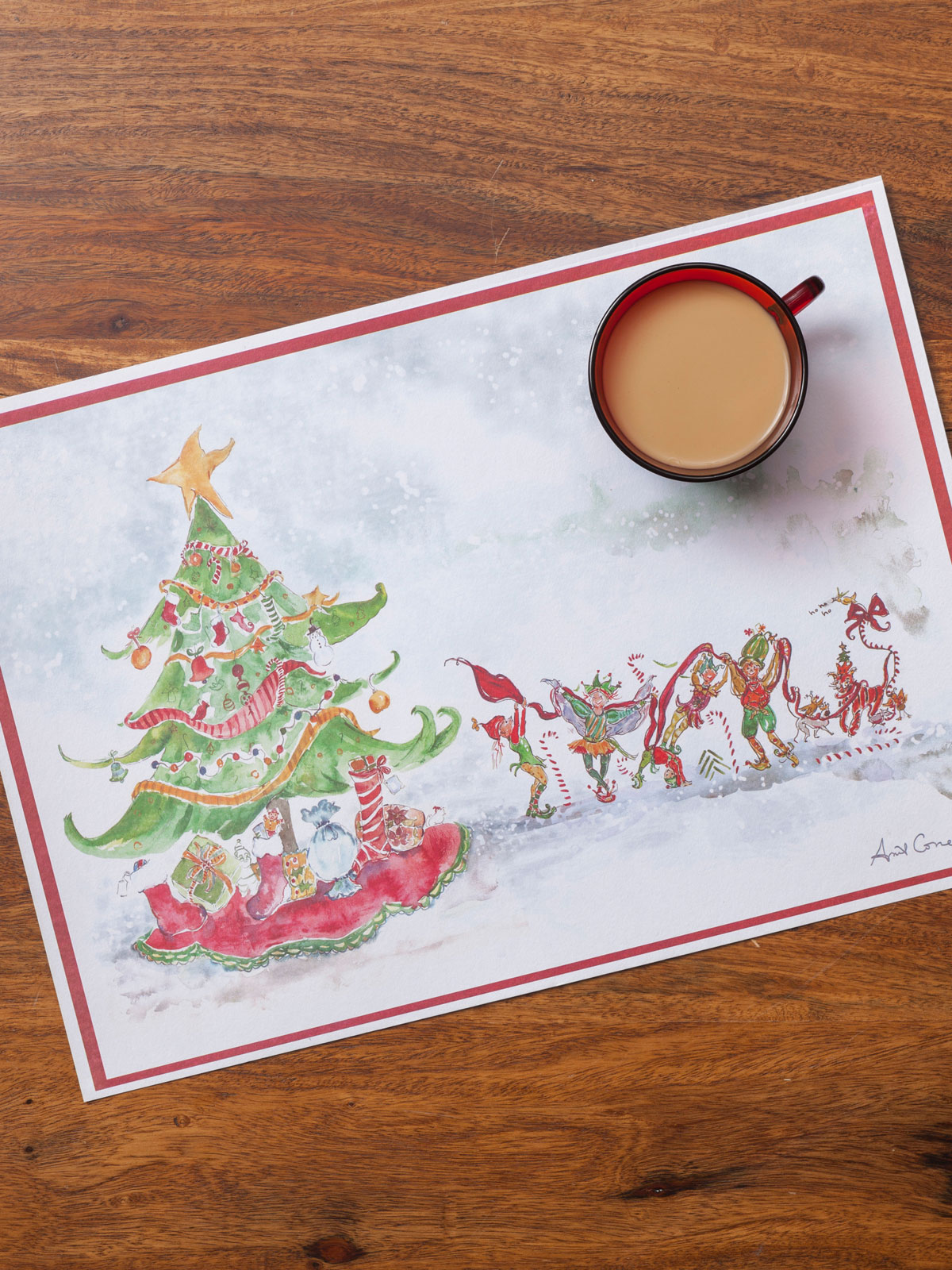 Christmas Watercolors Paper Placemats Set/24 | Your Home ...