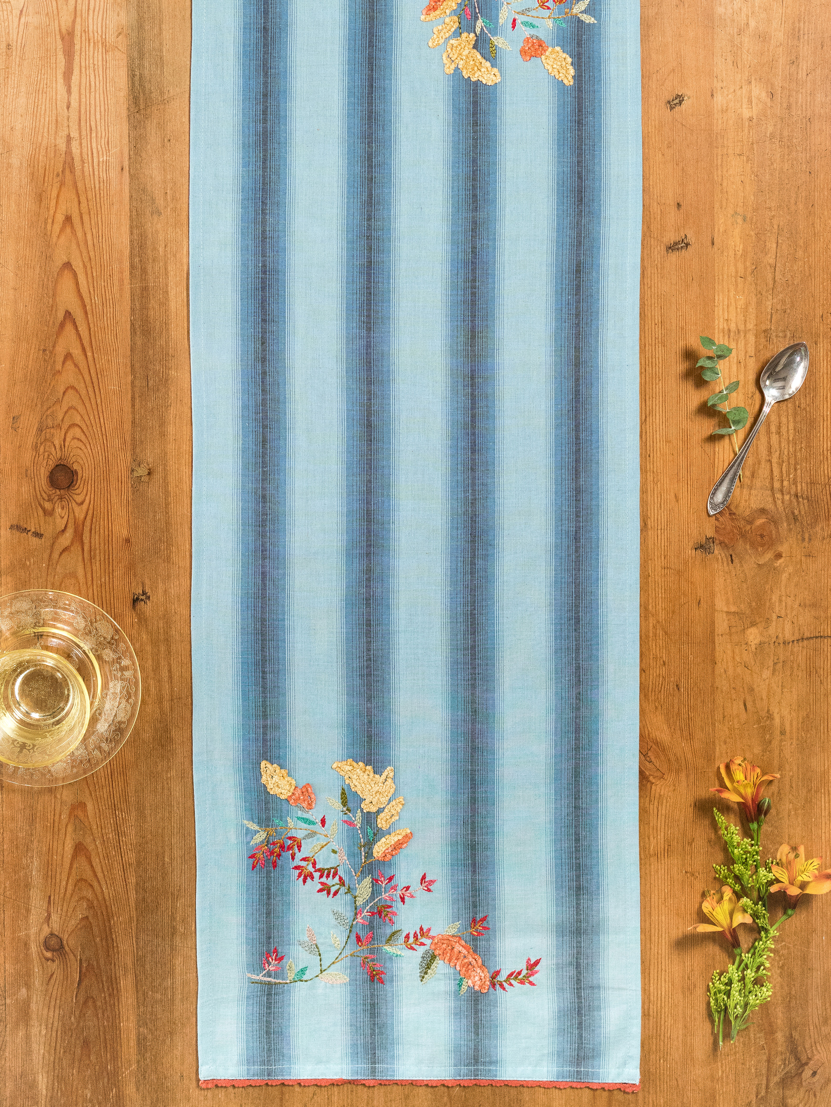 Goldenrod Emb Table Scarf