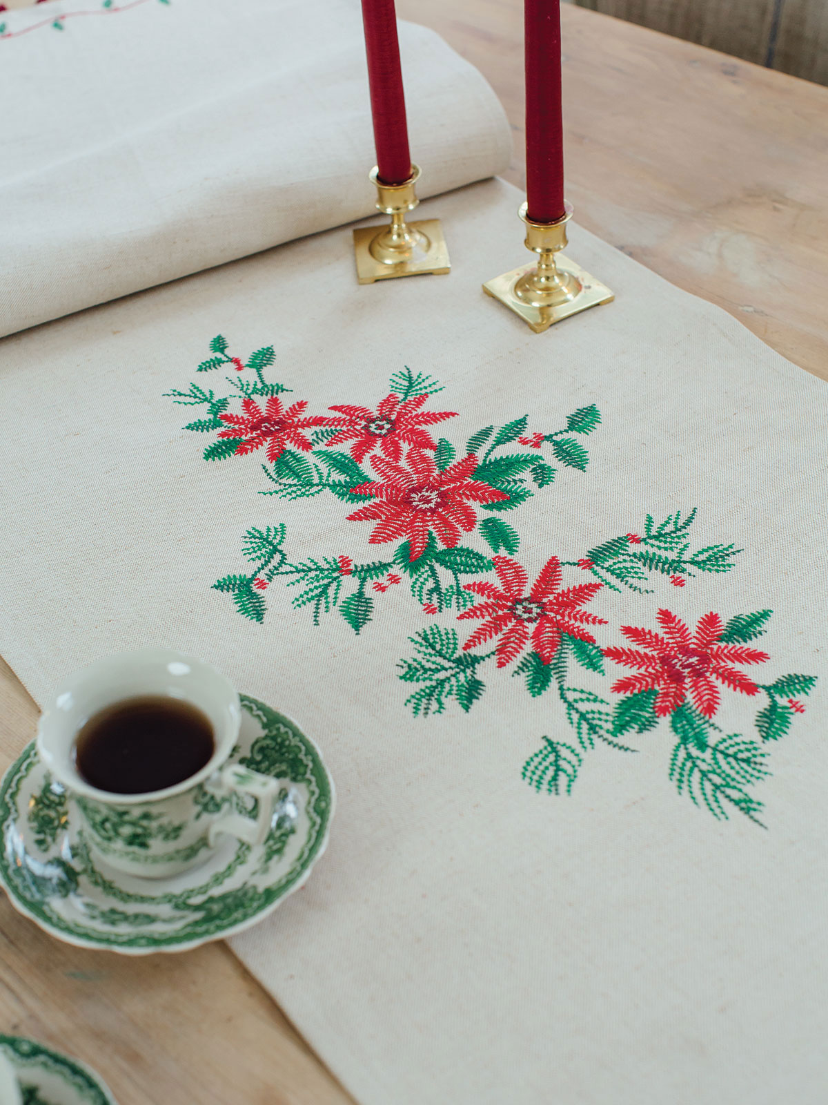 Yuletide Embroidered Runner