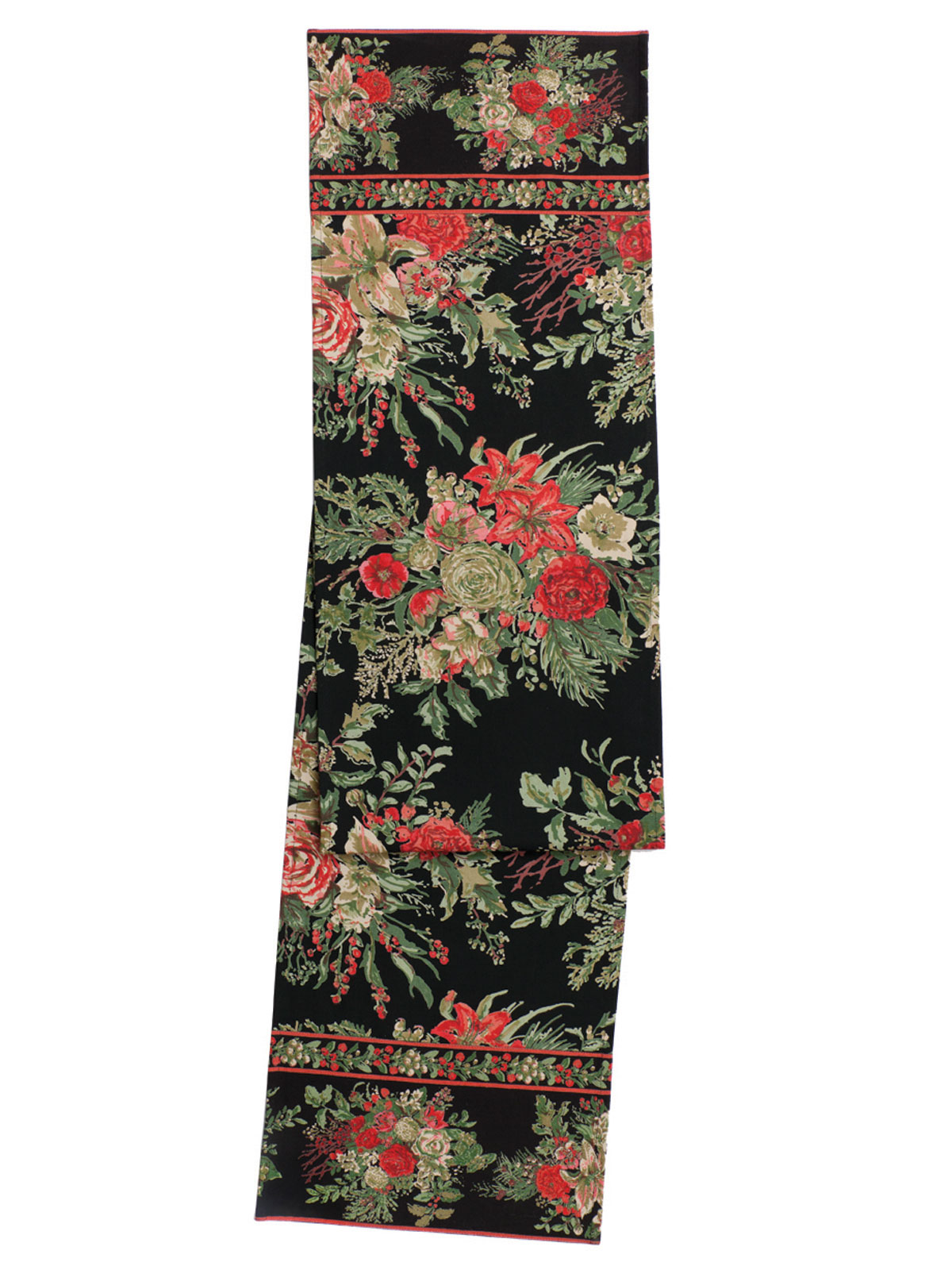 Merry Tablecloth Black Your Home Christmas Forever