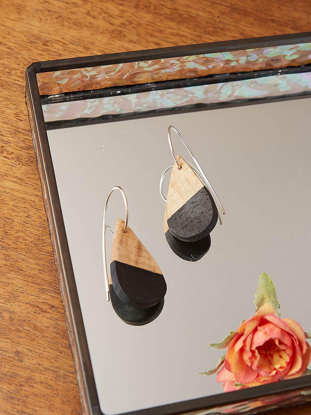 Violet Petal Earrings