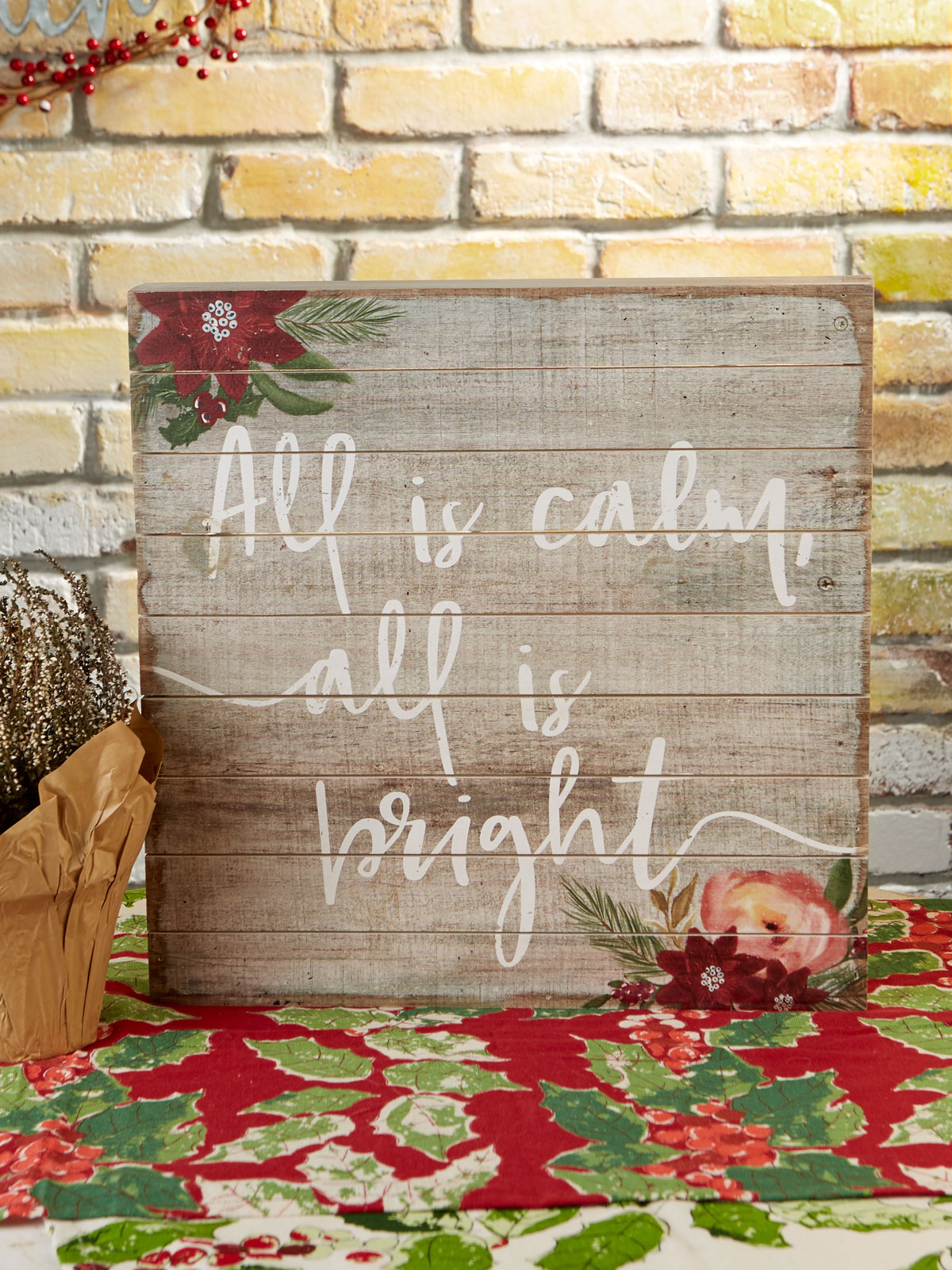All is Bright Wood Sign