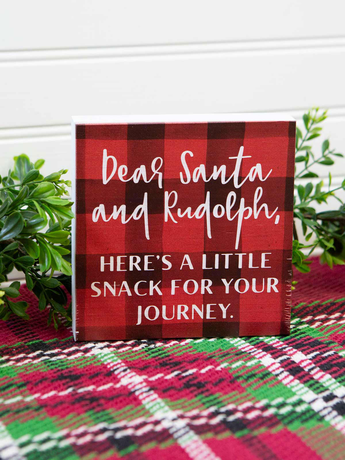Santa Snack Wood Sign