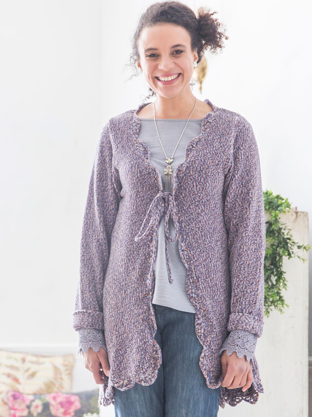 Cheri Chenille Sweater Ladies Clothing Jackets
