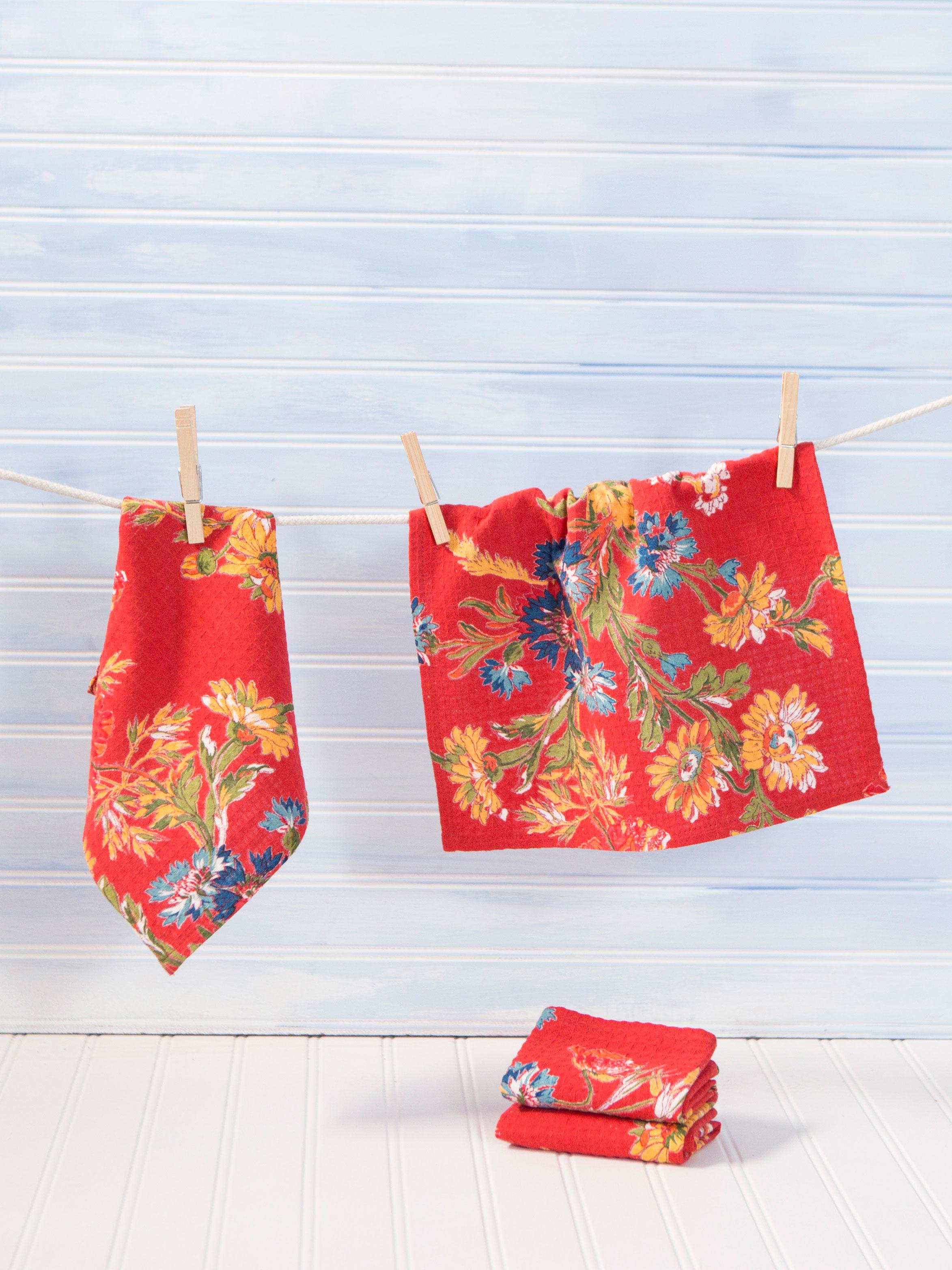 Wildflowers Tiny Towel Set of 4